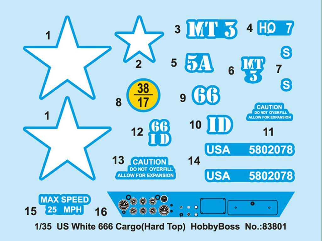Camión pesado americano White 666 (Vista 3)