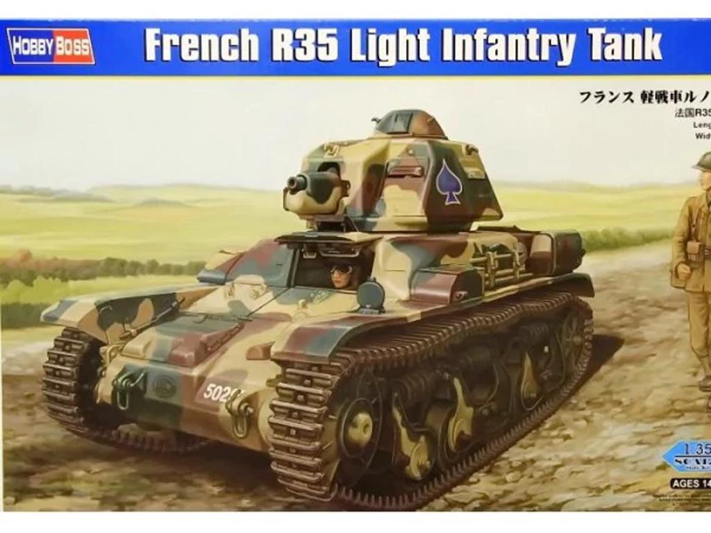 Tanque Francés de Infantería Ligera R35  (Vista 1)