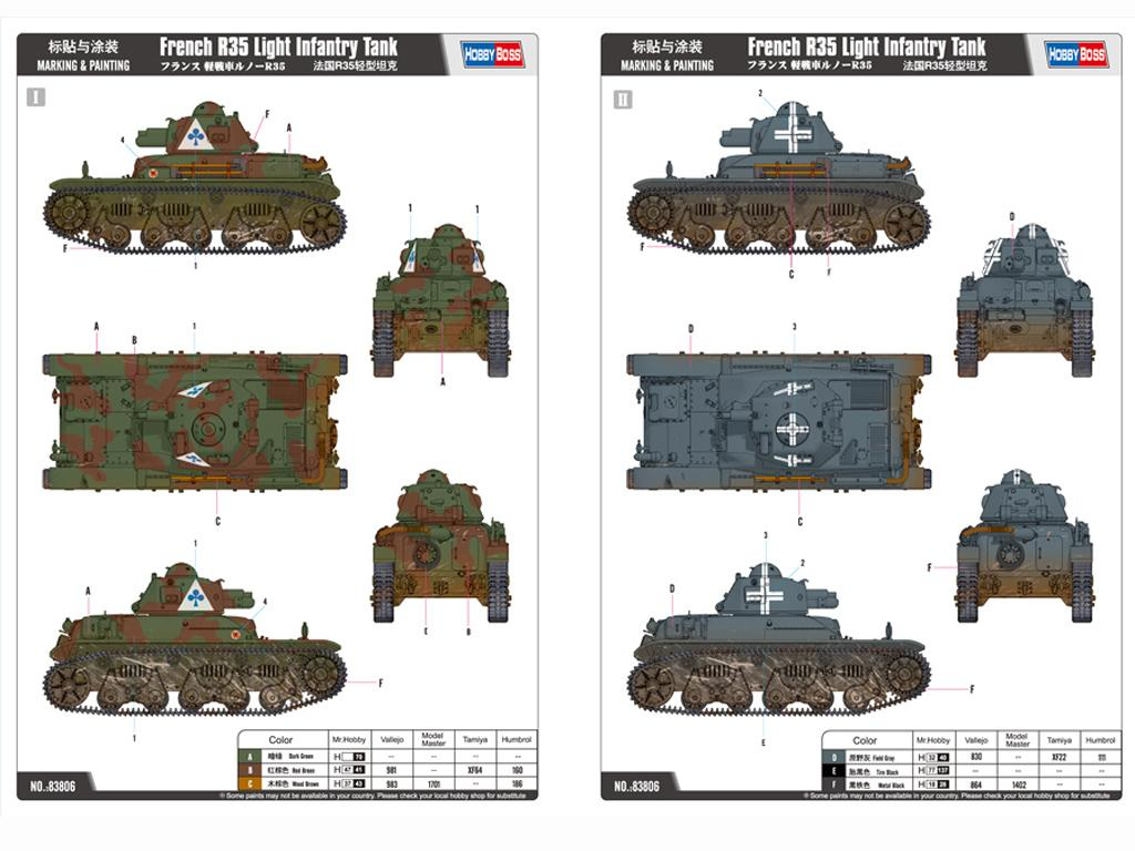 Tanque Francés de Infantería Ligera R35  (Vista 3)