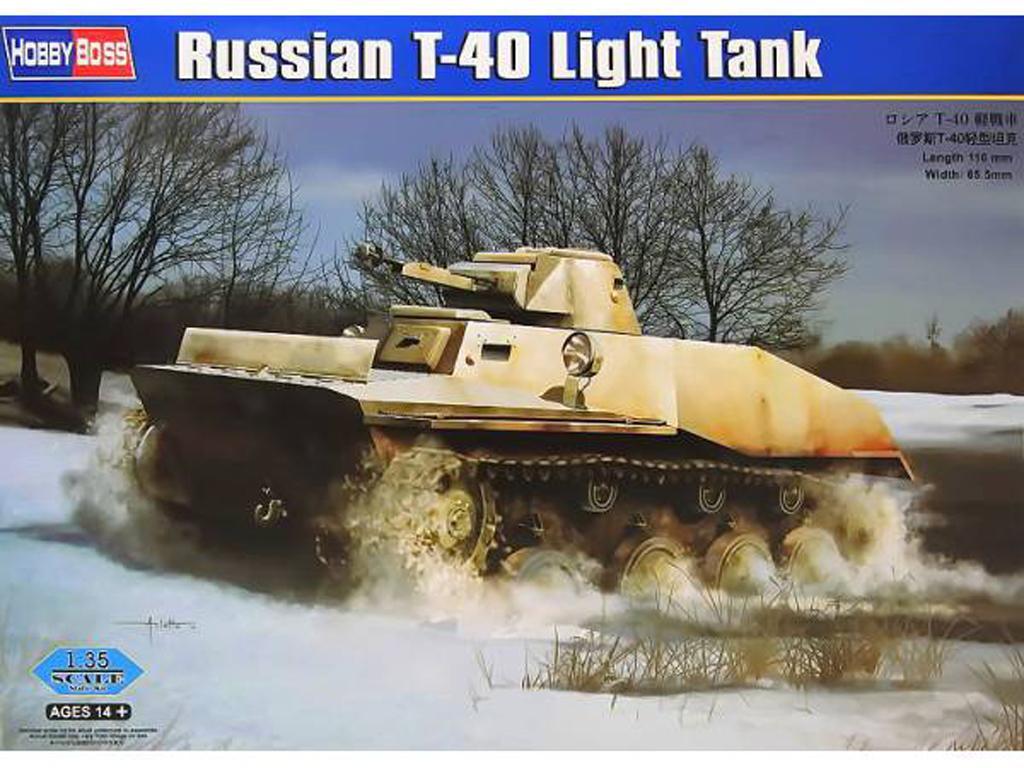 Tanque Ligero Ruso T-40 (Vista 1)