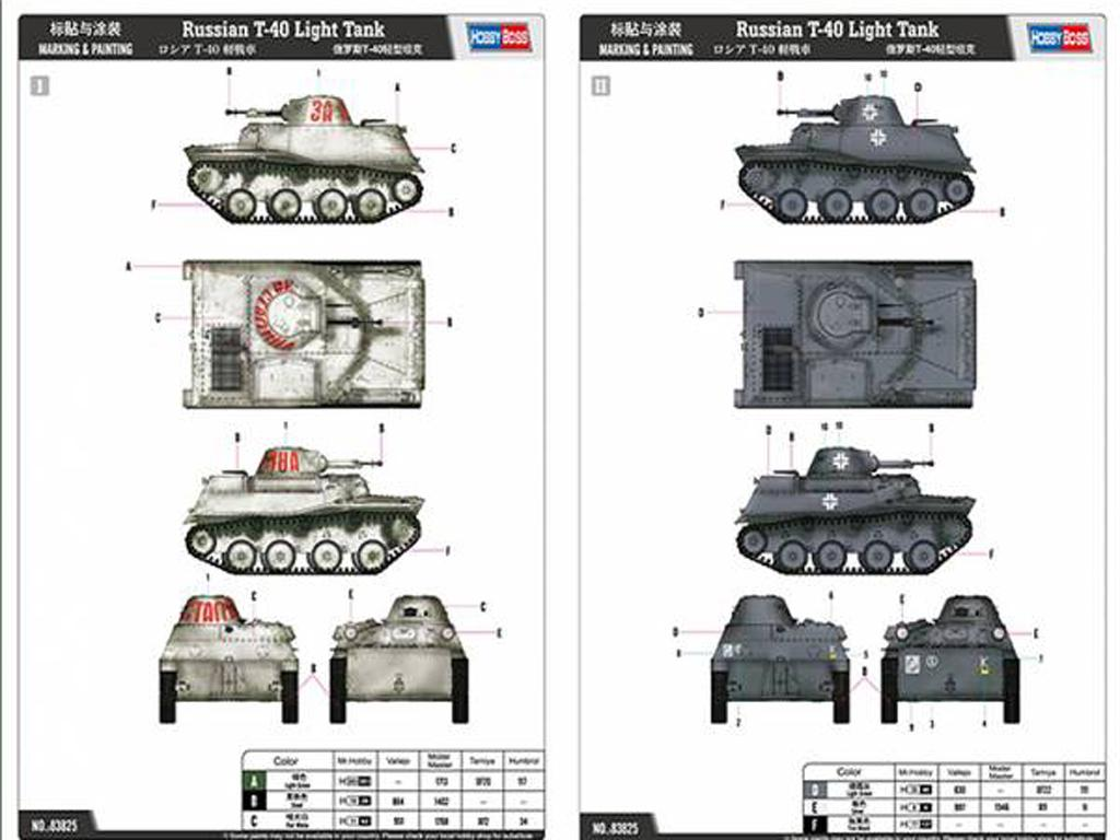 Tanque Ligero Ruso T-40 (Vista 2)