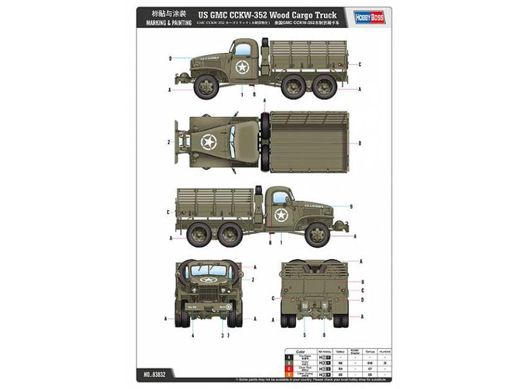 Camión de carga USA GMC CCKW-352 (Vista 2)