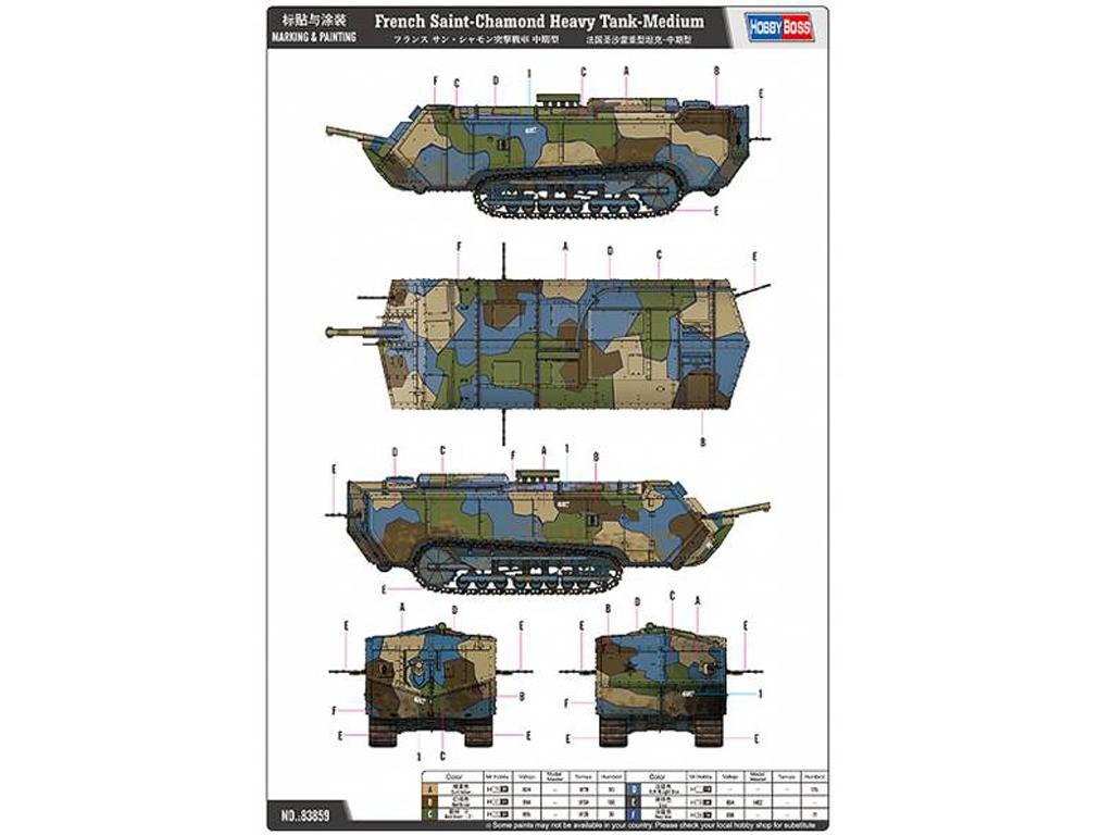 French Saint-Chamond Heavy Tank - Medium (Vista 3)