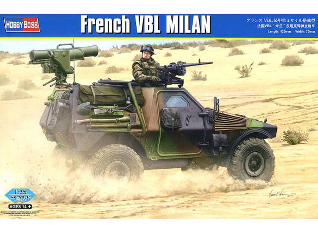 Blindado Francés Panhard VBL Milan (Vista 1)