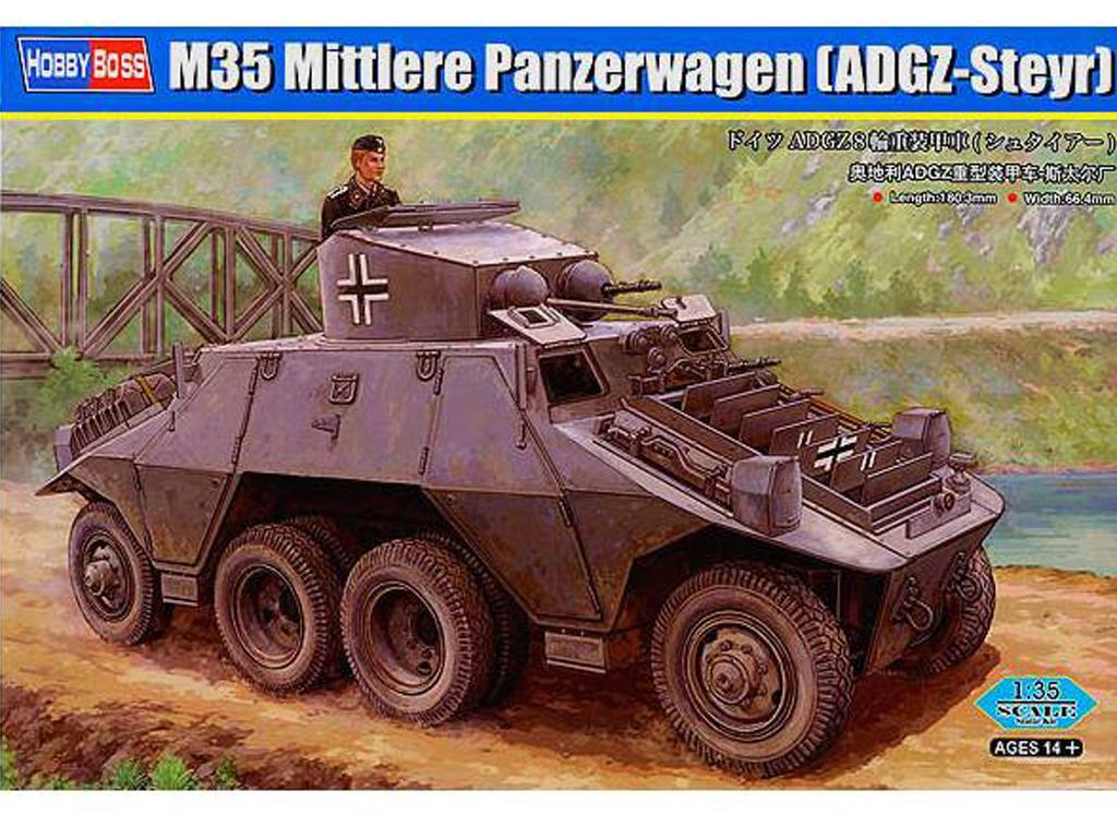 Blindado alemán de ruedas M35 (Vista 1)