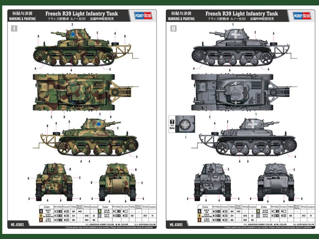 Tanque de infantería ligera francés R39 (Vista 2)