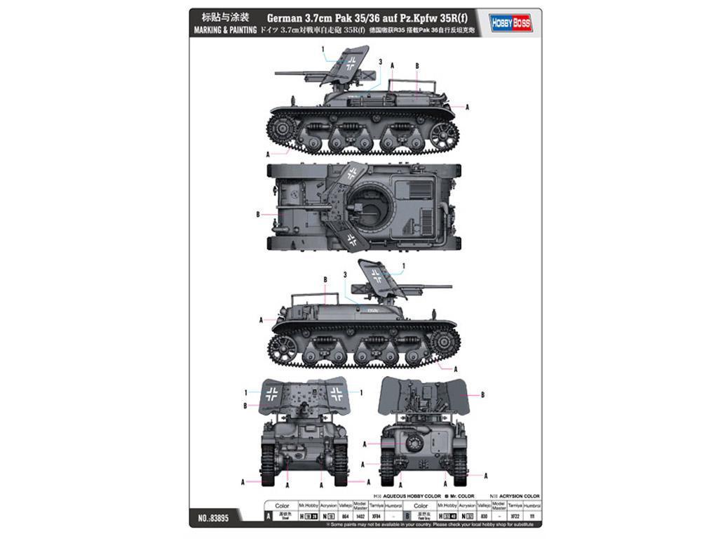 German 3.7cm Pak 35/36 auf Pz.Kpfw 35R(f) (Vista 3)