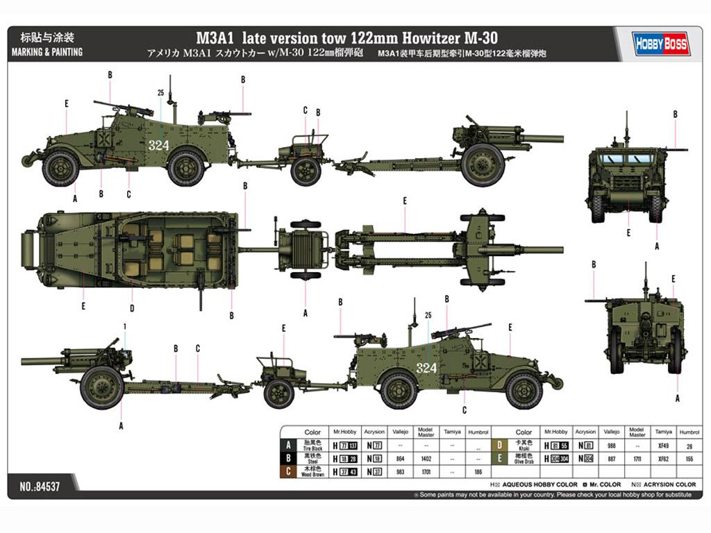 M3A1 late version tow 122mm Howitzer M-30 (Vista 2)