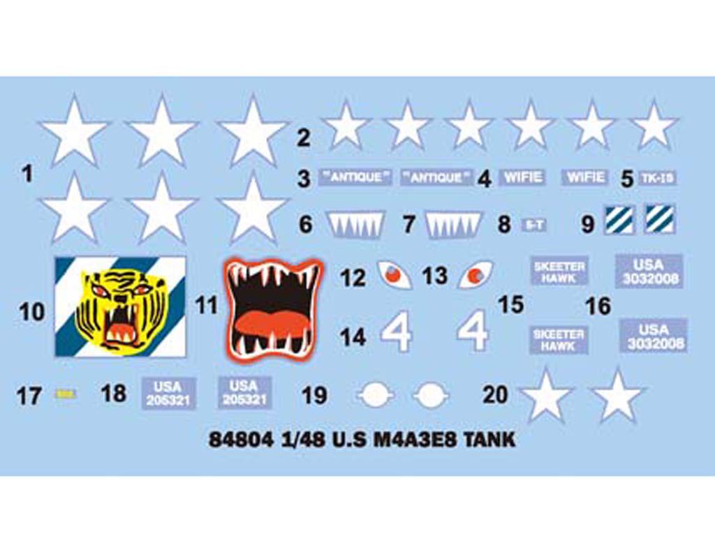 U.S M4A3E8 Tank (Vista 3)