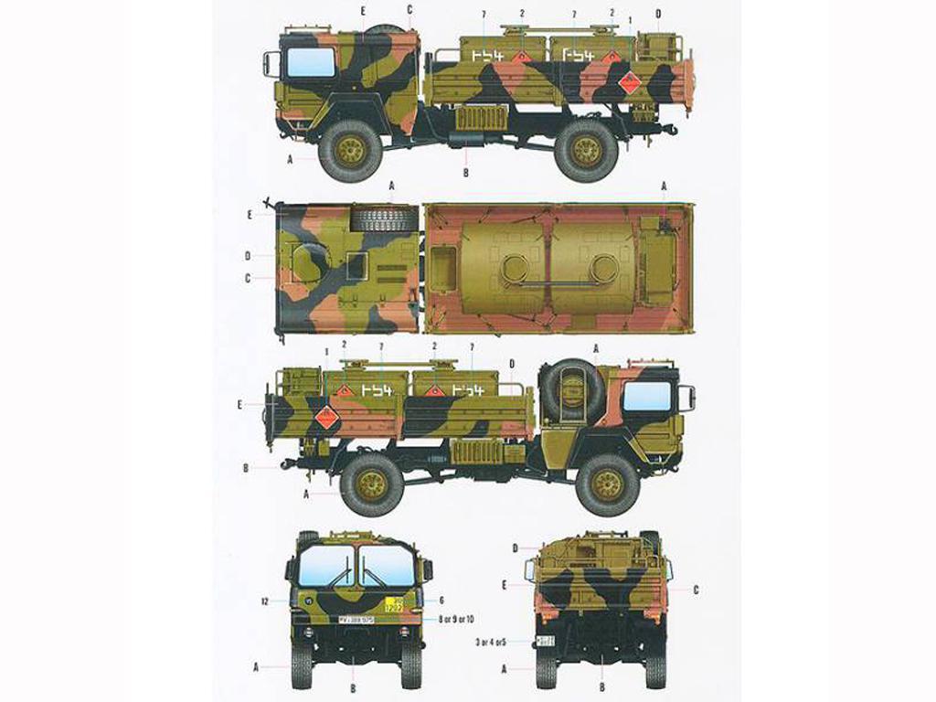 Camión cisterna MAN LKW 5t. mil glw (Vista 2)
