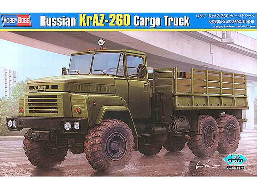 Camión de carga ruso KrAZ-260 (Vista 1)
