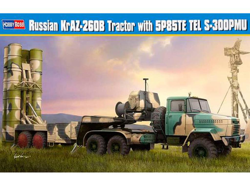 Tractor ruso KrAZ-260B con lanzacohetes  (Vista 1)