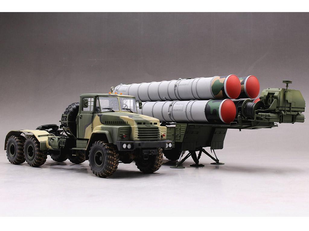Tractor ruso KrAZ-260B con lanzacohetes  (Vista 11)