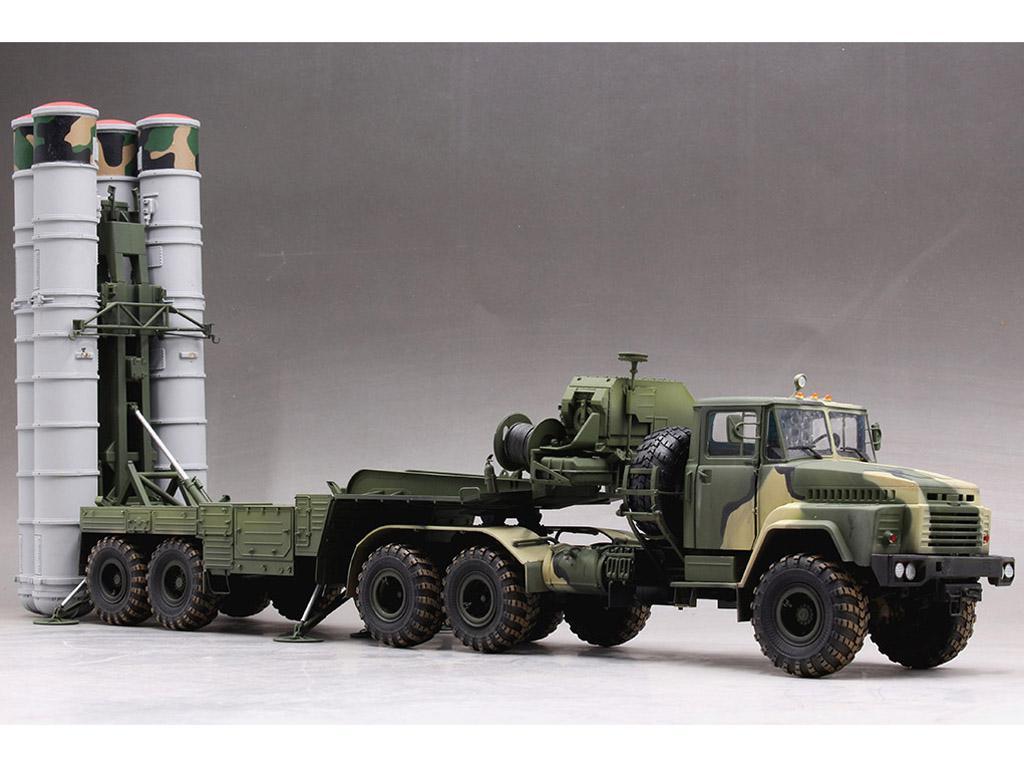 Tractor ruso KrAZ-260B con lanzacohetes  (Vista 5)