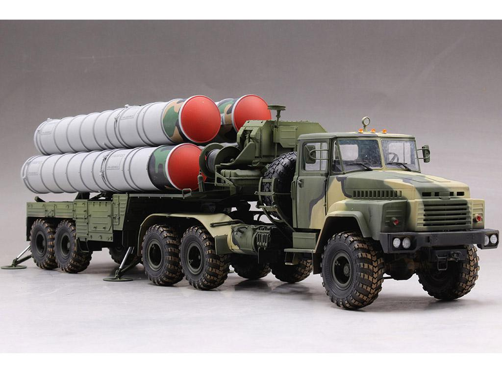 Tractor ruso KrAZ-260B con lanzacohetes  (Vista 6)