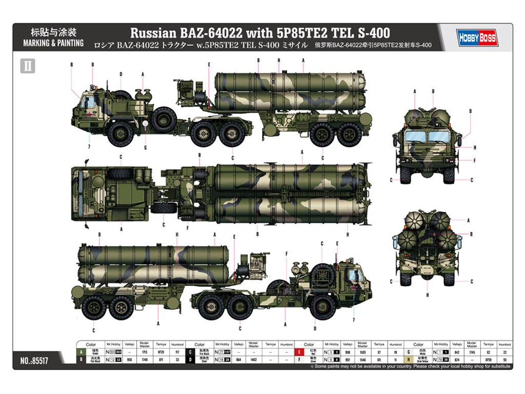 BAZ-64022 avec Missiles 5P85TE2 TEL. S-4 (Vista 2)
