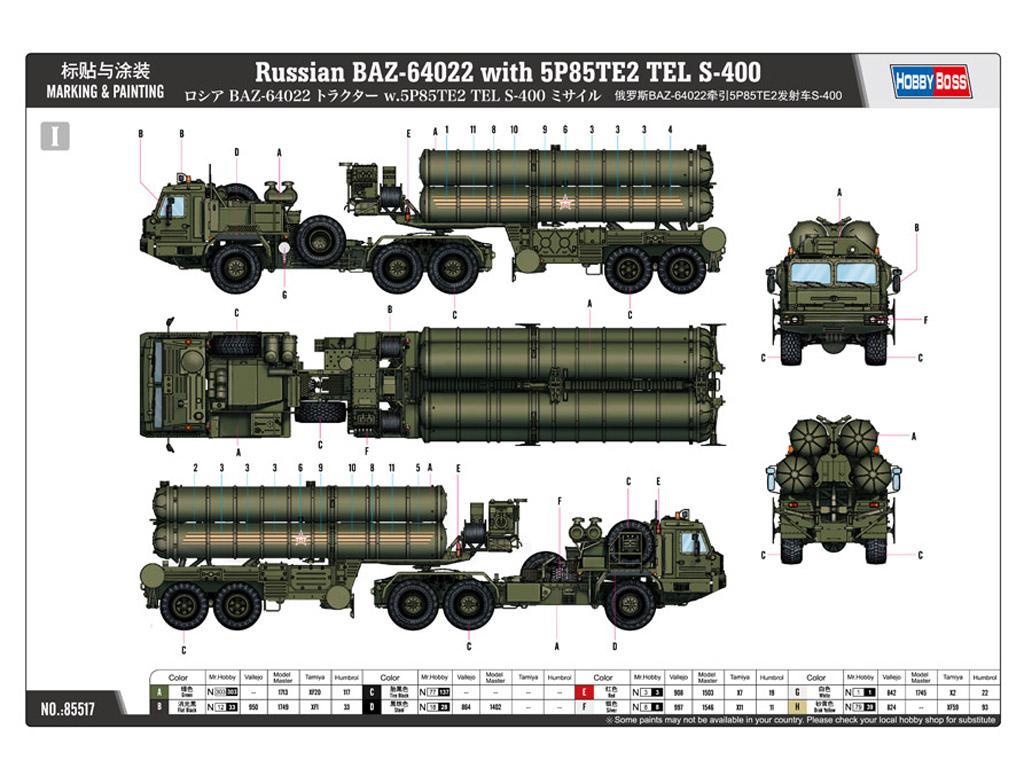 BAZ-64022 avec Missiles 5P85TE2 TEL. S-4 (Vista 4)