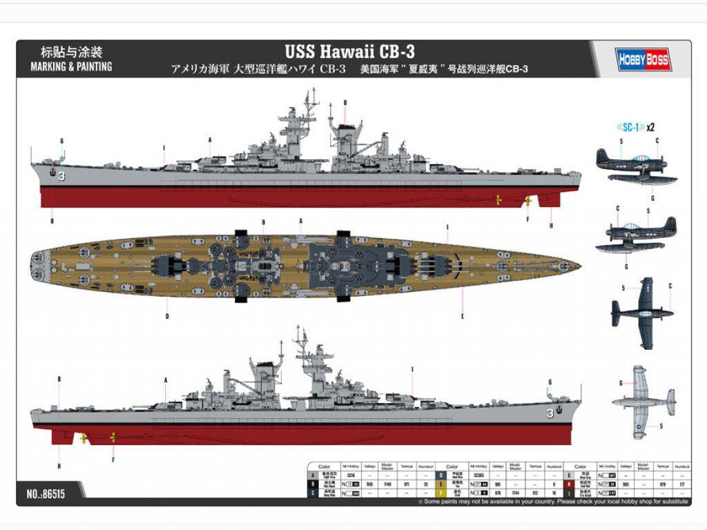 USS Hawai CB-3 - US Navy Heavy Cruiser 1 (Vista 3)