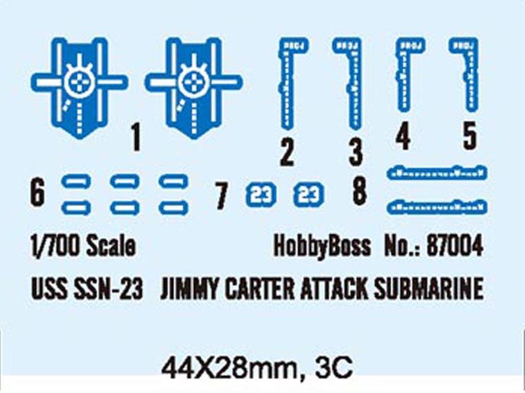 USS SSN-23 Jimmy Carter Attack Submarine (Vista 3)