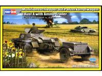 Panzer I A de amunicionamiento con remolque (Vista 3)