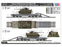 Schwere Plattformwagen Type SSyms 80&Pz.Kpfw.VI Ausf.E Sd.Kfz.181 Tiger I (Vista 6)