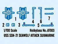 USS SSN-21 Seswolf Attack Submarine  (Vista 9)