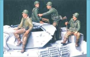 U.S. M10 Tank Infantry - 4 figures  (Vista 1)