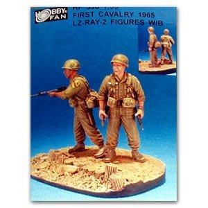 First Cavalry 1965 LZ-RAY 2 figures w/Ba  (Vista 1)