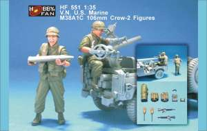 VN US Marine M38A1C 106mm Crew 2 Figs  (Vista 1)