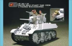 British M3A3 Stuart Tank Crew 2 Figs w/ - Ref.: HFAN-35552