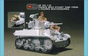 French M3A3 Stuart Tank Crew 2 Figs w/ A  (Vista 1)