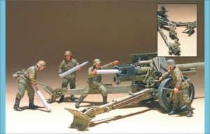 German PAK 43 anti-Tank Gun Crew 4 figs.  (Vista 1)