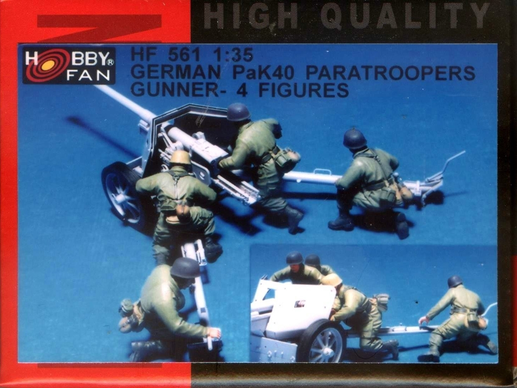 German PAK 40 Gun Crew 4 figs.  (Vista 1)