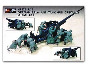 German 8.8cm Anti-Tank Gun crew - 9 Figu - Ref.: HFAN-35576