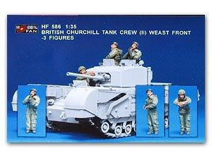 Tripulantes del tanque Britanico Churchi - Ref.: HFAN-35586