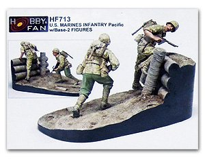 U.S. Marines Infantry Pacific w/Base   (Vista 1)