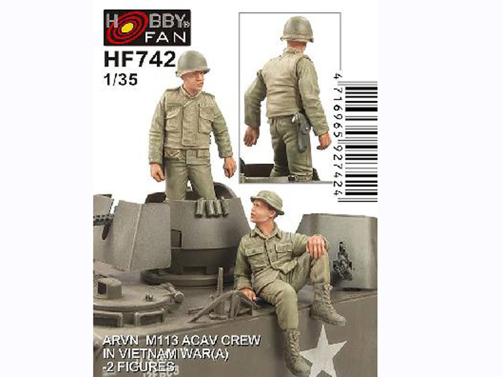 ARVN M-113 ACAV Crew in Vietnam War  (Vista 1)