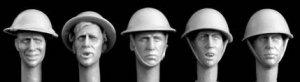 Cabezas Británicas con casco acero  (Vista 1)