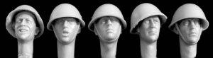 Cabezas británicas con casco mod. Mk.II  (Vista 1)