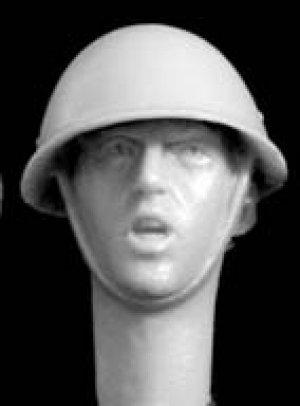 Cabezas británicas con casco mod. Mk.II  (Vista 3)