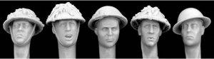 Cabezas Britanicas con cascos camuflaje  (Vista 1)