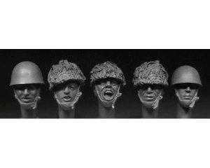 Cabezas cascos de paracaidistas británic  (Vista 1)