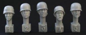Cabezas paracaidistas alemanes con casco  (Vista 1)