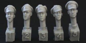 Cabezas Oficiales Alemanes SS con gorra  (Vista 1)