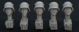 Cabezas Alemanes con casco de acero  (Vista 1)