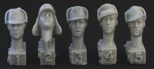 Cabezas Alemanas con gorras de invierno  (Vista 1)