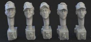Cabezas Alemanes con gorra visera M.43  (Vista 1)