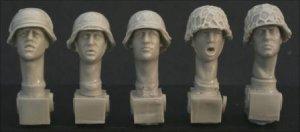Cabezas Alemanas con cascos  (Vista 1)