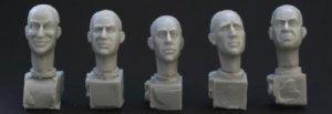 5 Cabezas con distintos caracteres  (Vista 1)