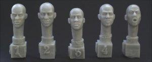 5 different African bald heads  (Vista 1)